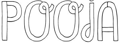 Pooja Name Wallpaper and Logo Whatsapp DP