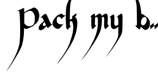 Devil Kalligraphy