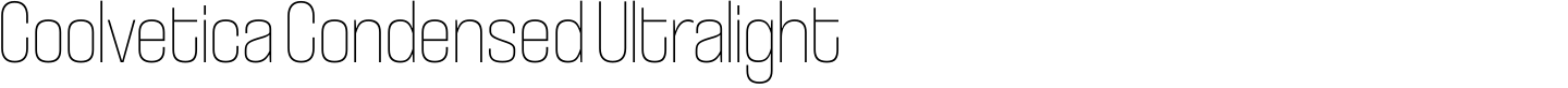 Coolvetica Condensed Ultralight